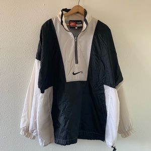 Nike Vintage Windbreaker Pullover White Black